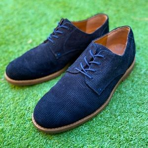 Hush Puppies Blue Suede Leather Dress Shoes US11